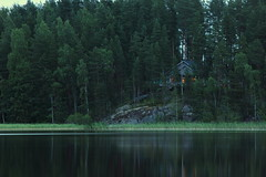 Lake and cottage