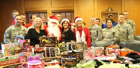 Operation Military Cheer Lexington Homebuilders toy drive pick up