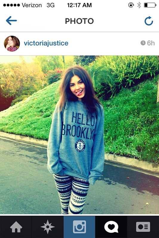 Victoria Justice - Hello Brooklyn Sweatshirt