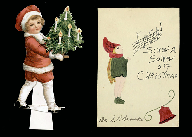 Materials used in Christmas celebrations at Baylor, circa 1930s