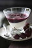 Vanilla bean panna cotta with cherry gelee
