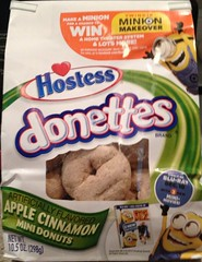 HOSTESS APPLE CINNAMON DONETTES MINION MAKEOVER 2013 PACKAGING