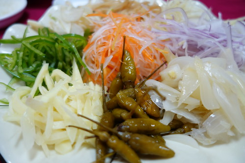 Closer look at Shunde Yu Sheng's condiments