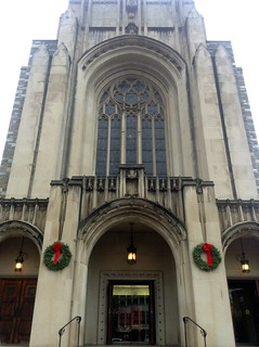 First Baptist DC with Christmas Wreaths