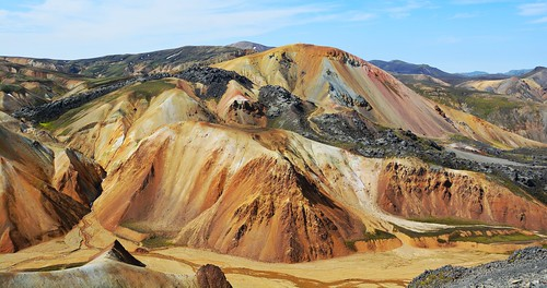 mountains volcano iceland rhyolite ísland vulkan landmannalaugar laugarvegur volcanism brennisteinsalda bláhnjukur