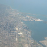 Looking out over Toronto before landing to switch planes