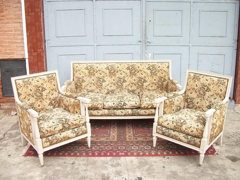 Juego de sillones estilo ingles living sofa sala comedor - Sillones para leer ...