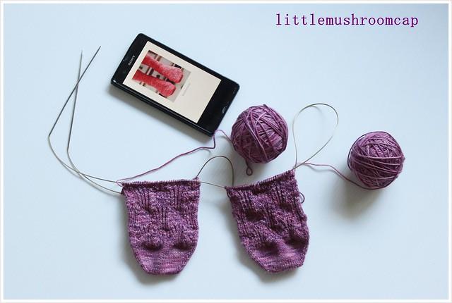 Socks Knitting_Rosebud Socks _ two at a time sock _ handknit _