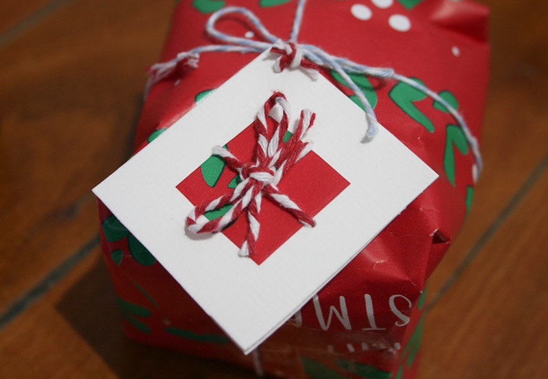 Christmas gift tags - close up