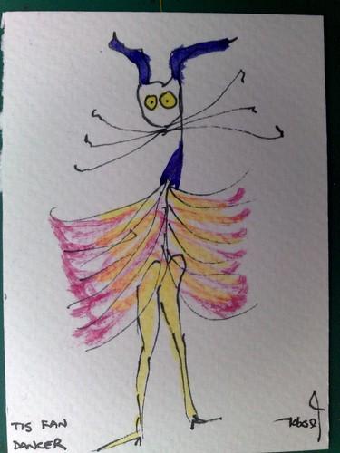Tis fan dancer by Tis Art