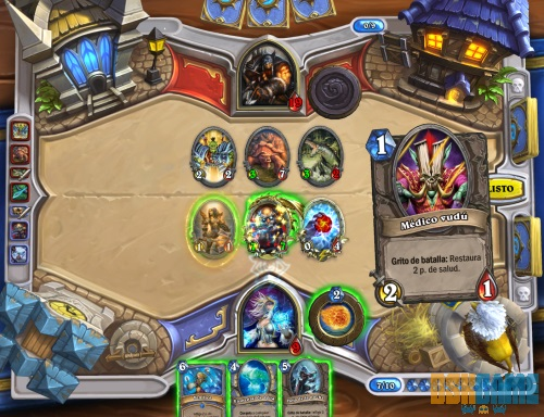 Hearthstone: Heroes of Warcraft , combate en tablero