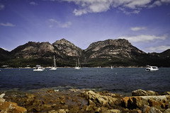 Mt Amos and Mt Mayson, seen from Coles Bay #3