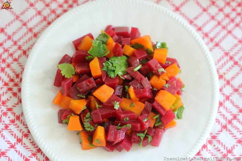 Ensalada de remolacha y zanahoria