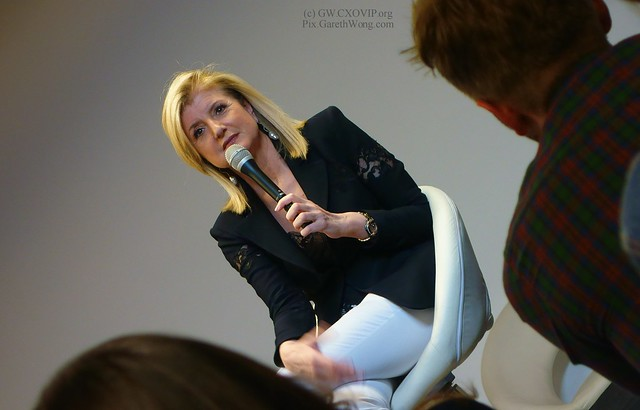 Arianna Huffington sharing great insights from