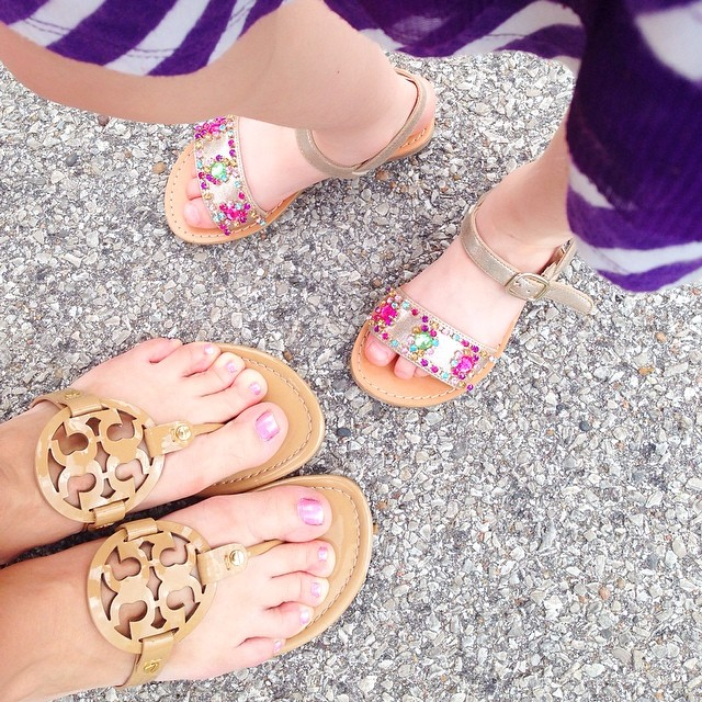 Cute sandals are a Mother's Day requirement.