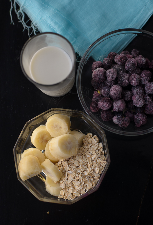 Blueberries Banana Oats Smoothie