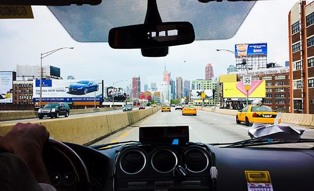stylelab lifestyle travel blog New York trip skyline taxi drive