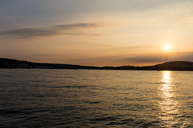 Sunset over Swanage Bay