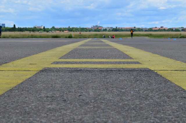 European Instagram meet up #EverchangingBerlin_Tempelhofer Feld runway lines closeup