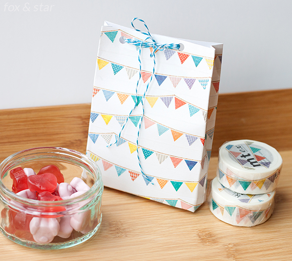 diy bunting mt masking tape bag