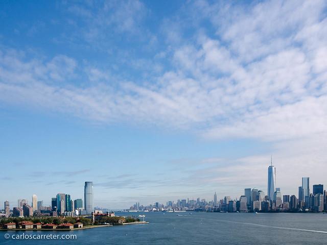 El río Hudson, Manhattan, Jersey City y la isla Ellis
