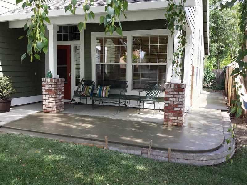 porch extension with brick edge in davis - solano county
