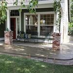 Porch Extension With Brick Edge In Davis