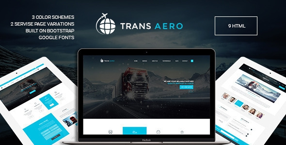 TransAero - Transport & Logistics HTML Template