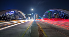 West 7th Bridge w/ Supermoon