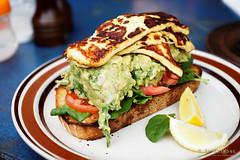 20161024-07-Avocado, chickpea and haloumi toast at…