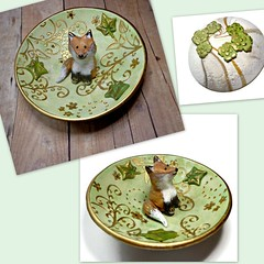 polymer clay Little Fox Ring dish