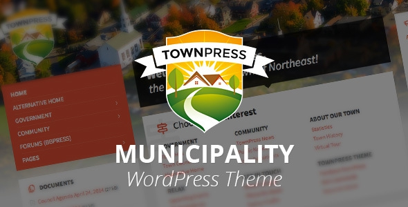 TownPress v1.4.5 - Municipality WordPress Theme