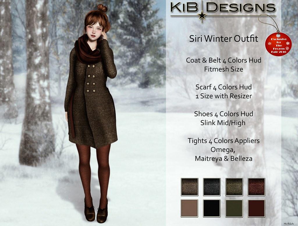 KiB Designs - Siri Outfit for The Frozzen Fair 2016 - SecondLifeHub.com