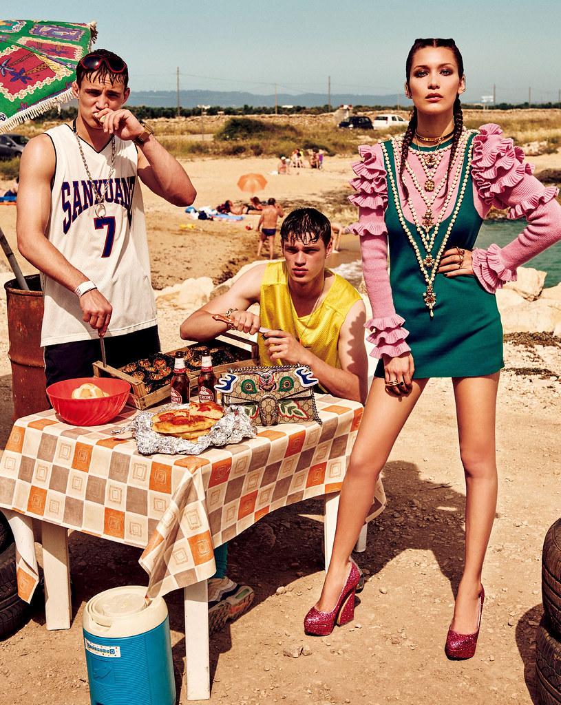 Белла Хадид — Фотосессия для «Vogue» JP 2016 – 7