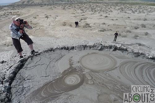Amazing qobustan mud volcanos