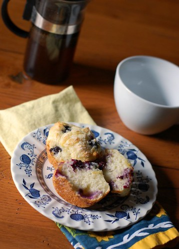 Blueberry Sour Cream Muffins | www.puresugar.net