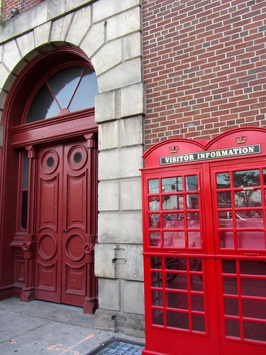 St. Lawrence Market with British Phone Booth Visitor Information