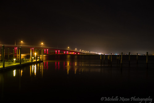 longexposure nightphotography bridge light color reflection water reflections dark photography lights bay pier newjersey glow nightscape nj noflash t3 oceancity afterdark 2013