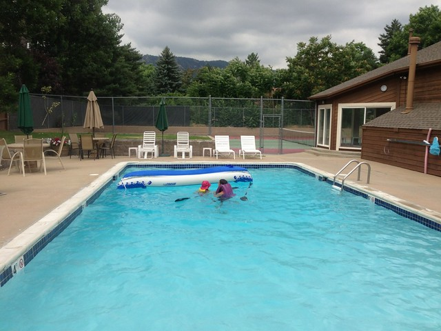 Swimming - Kayaking at the Pool, Boulder, CO