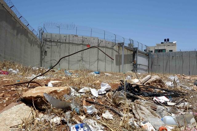 Concrete Walls surrounding West Bank settlements