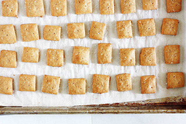 three-cheese crackers