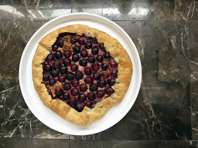 chocolate cherry Gruyere galette