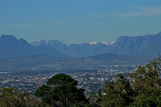 Snow on the Mountains north of Cape Town (taken from Kirstenbosch)