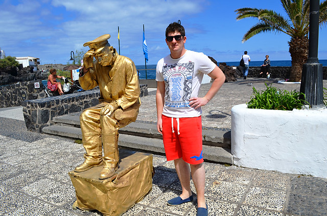 Living Statue with Liam, Puerto de la Cruz, Tenerife