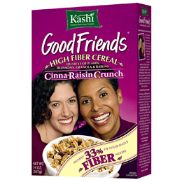 "A cereal box of ""good friends"" features a black woman and a white woman smiling broadly"