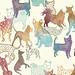 watercolor dogs pattern by Gabee Meyer