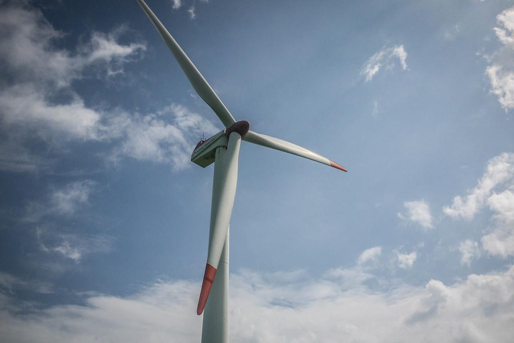 Lots of wind power plants in northern Hokkaido, Japan