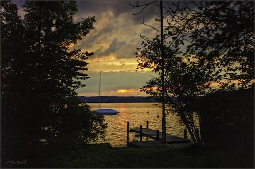 leica sunset germany landscape deutschland bavaria boot see abend sommer oberbayern landschaft hdr starnbergersee steg m9 ammerland photomatixpro colorefexpro viveza leicasummilux35mmf14asphii lightroom5