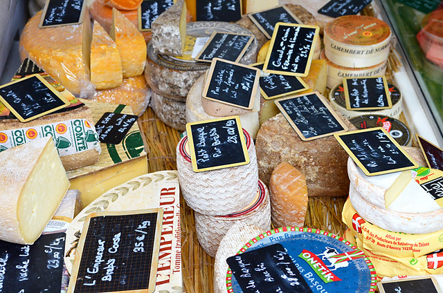 Cheese, Issigeac Market, Dordogne, France