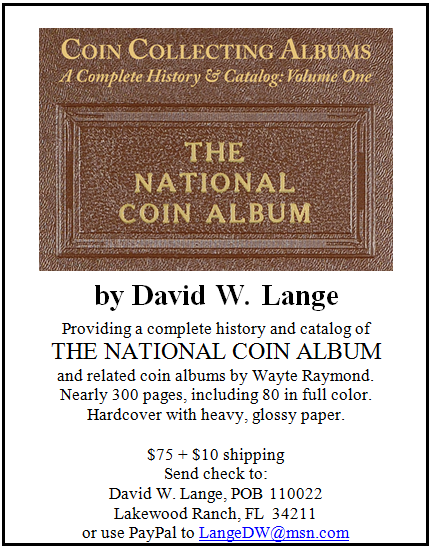 Lange National Coin album ad image border